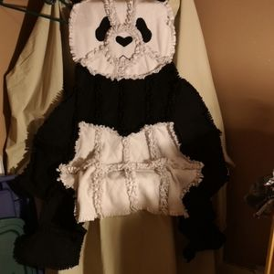 Other - Handmade Fleece Panda Lap Blanket